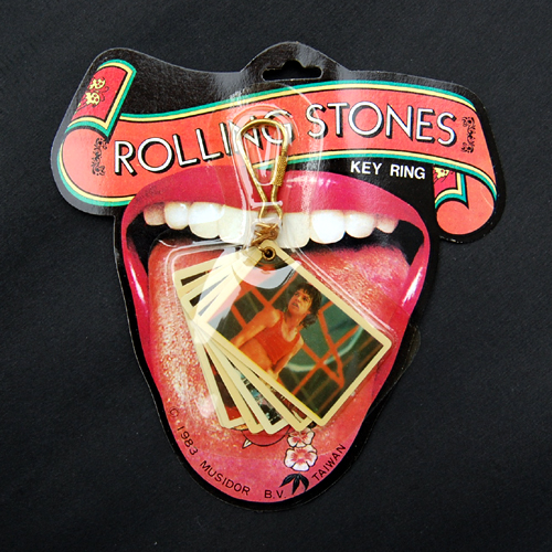 Vintage 70s Keychain Rolling Stones 1983 Tattoo You.